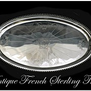 CARDEILHAC : AMAZING Antique French Sterling Silver Tray 150 Troy Ounces