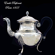 Emile Puiforcat: Eagle! Antique French Sterling Silver Tea Pot