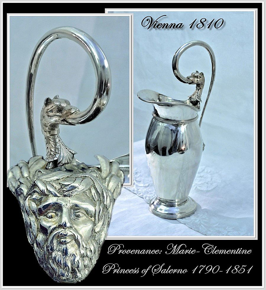 Spring SALE! Antique Austrian Silver Ewer Royal Provenance Vienna 1810