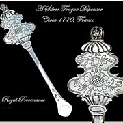 SPRING SALE! Rare Antique French Silver Tongue Depressor Circa 1770: Provenance