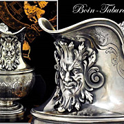 Boin-Taburet: Spectacular Antique French Sterling Silver Cream Jug Mascarons!