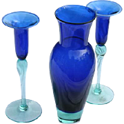 Holmegaard Anja Kjaer Royal Copenhagen Vase & Candlesticks Prized Color