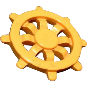 Bakelite Ships Wheel Nautical Butterscotch Brooch Pin 40's