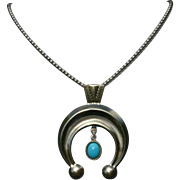 Carolyn Pollack Sleeping Beauty Turquoise Naja Italy Sterling Bead Ball Necklace
