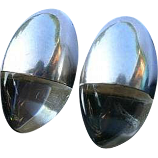 Mid Century Modern Lucite Clip Earrings