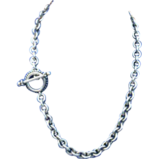Heavy Steven Dweck Sterling Silver Necklace Retail $750