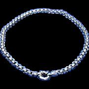 Bold Vintage Sterling Silver Rolo Necklace Large O Ring Fine