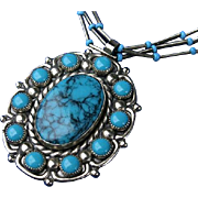 Bell Trading Mid Century Faux Turquoise Necklace Pendant