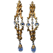 Kirks Folly Marcasite Crystal Lovely Earrings Retired