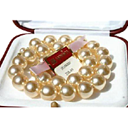 Grand Majorica Pearls 13mm Necklace 60's/70's