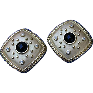 Alice Caviness Etruscan Style Earrings Late 70's/80's