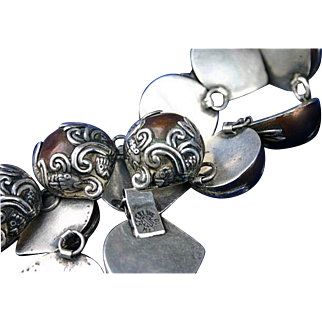 Iconic Fish in Waves Mexico Sterling Silver Copper Bracelet, Necklace &  Earrings Set