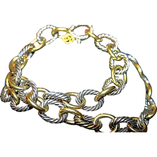 David Yurman 18K Gold & Sterling Silver Large Necklace