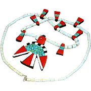 XL Depression Era Thunderbird Kewa FKA Santo Domingo Pueblo Necklace
