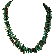 Turquoise 14K Gold Italian Strand Necklace Mid 80's