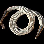 Extremely Fine White Clam Shell Heishi Santo Domingo Kewa Necklace