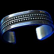 Gail Bird Yazzie Johnson Navajo 80's Sterling Silver Cuff Bracelet