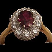 Beautiful 18K Gold Ruby and Diamond Ring