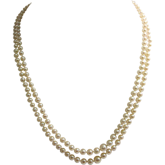 Classic Double Strand Cultured Pearl Necklace