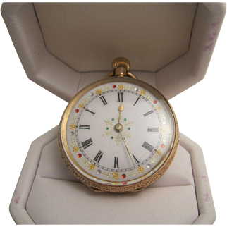 Delightful 14K Ladies Pocket Watch