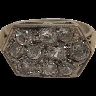 Pretty Platinum Art Deco Ring