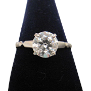 Quality 1.36 ct Solitaire Diamond Ring