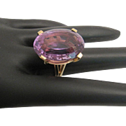 Gorgeous BIG 14K Amethyst Ring