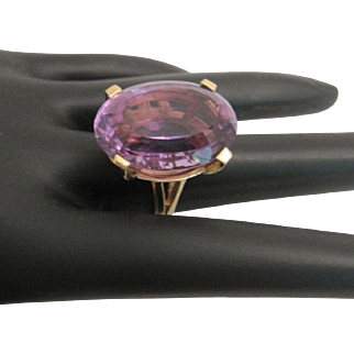 Gorgeous BIG 14K Amethyst Ring