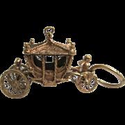 9K Gold Coronation Carriage Charm