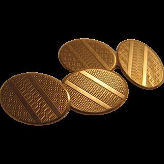 Nicely Engraves 9K Cufflinks