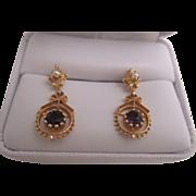 Delicate 14K Amethyst and Pearl Earrings