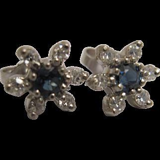 Sweet Sapphire and Diamond Earrings