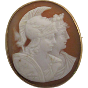 Exquisitely Carved Double Shell Cameo