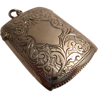 English Sterling Silver Vesta (Match) Case