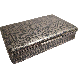 Fabulous Early 19th Century French Niello Silver Snuff Box