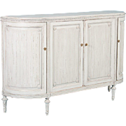 Antique 19th Century Gustavian Buffet Sideboard Painted Light Gray