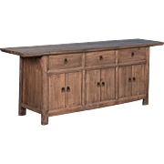 Antique 19th Century Chinese Pine Sideboard Buffet