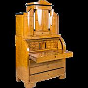 Antique 19th Century Danish Biedermeier Bureau Secretary Desk