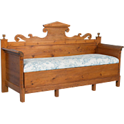Antique 19th Century Swedish Pine Storage Bench