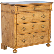 Antique 19th Century Pine Chest of Drawers from Denmark