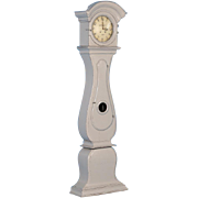 Antique Grey Swedish Mora Grandfather Clock, circa 1820