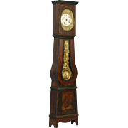 "Antique 19th Century French Morbier ""Wine Growers"" Grandfather Clock"