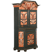Antique 19th Century Painted Swedish Cabinet/Cupboard, Circa 1800-40