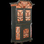 Antique 19th Century Painted Swedish Cabinet/Cupboard, Circa 1800-40