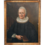 Original Oil on Canvas of Bishop Stephan Middelboe, signed and dated Svend Rønne 1937