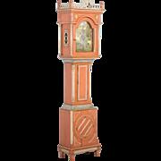 19th Century Original Painted Louis XVI Grandfather Clock