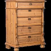 Antique 19th century Pine Highboy From Sweden