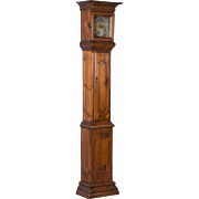 Antique Early 19th Century Pine Grandfather Clock from Sweden