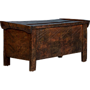 Carved Antique Country Trunk From Hungary