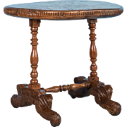 Oval Antique Spanish Colonial Side Table